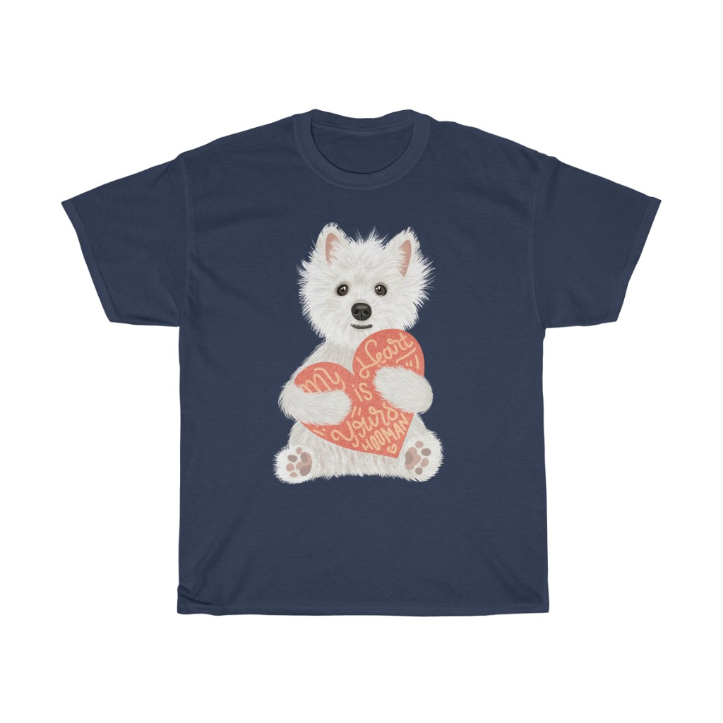 5 Perfect Gifts for Westie Lovers in 2021 - Westie Heart Navy T-shirt