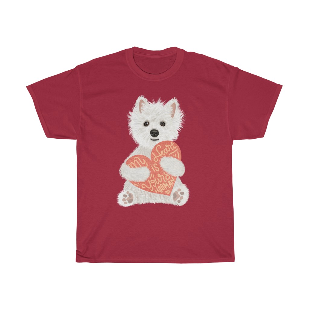 5 Perfect Gifts for Westie Lovers in 2021 - Westie Heart Red T-shirt