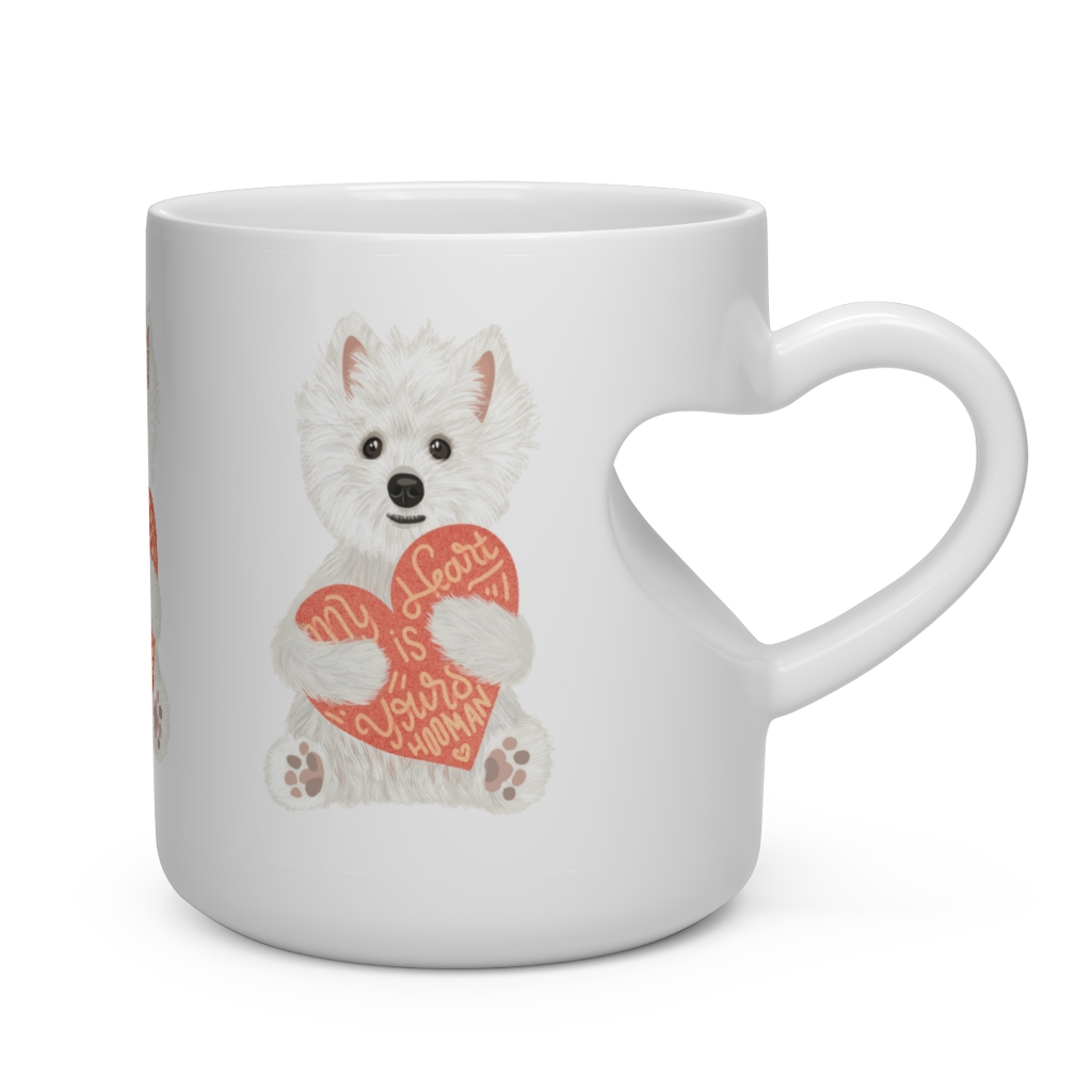 5 Perfect Gifts for Westie Lovers in 2021 - Westie Heart Shaped Mug