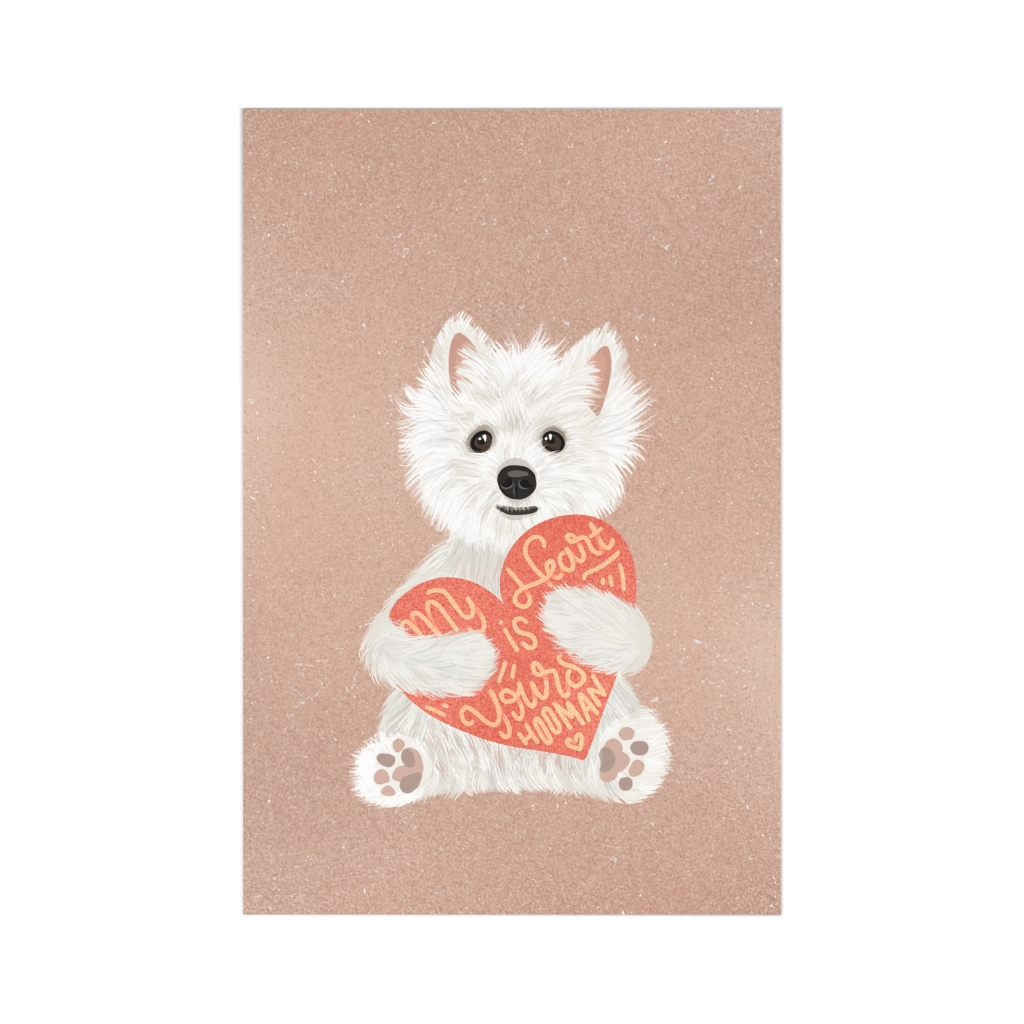 5 Perfect Gifts for Westie Lovers in 2021 - Westie Heart Greeting Card
