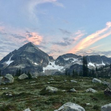 Sunset over Greggorio Peak