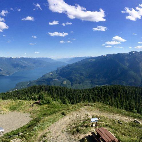 Panorama over Kootenay Lake