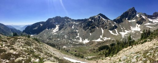 Panorama on Whitewater Pass