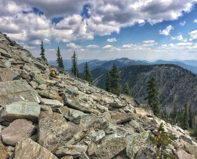 Climbing Boulders to the Monk Peak Summit