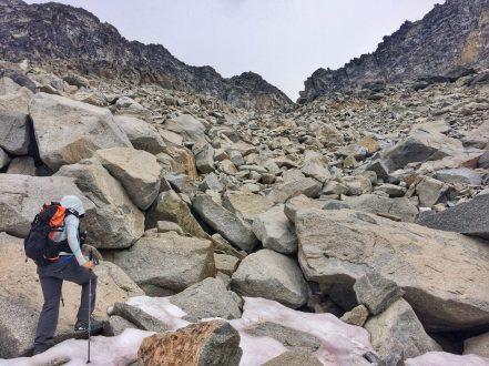 Beginning the climb