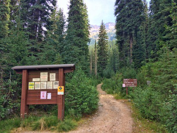 Trailhead at Gibson Lake