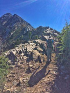 Hiking up to Mount Loki