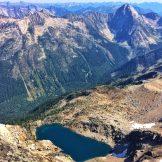 Looking down at Bernard Lake