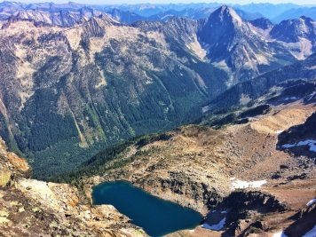 Looking down at Bernard Lake