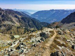 Trail descending to Lyle Lakes