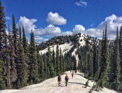 Looking ahead along the ridgeline