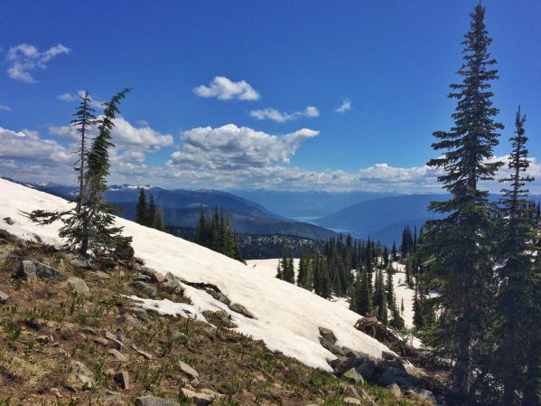 Looking down over the West Arm of Kootenay Lake