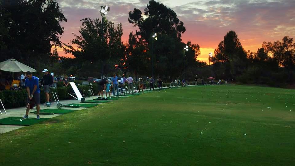 westlake village golf range sunset