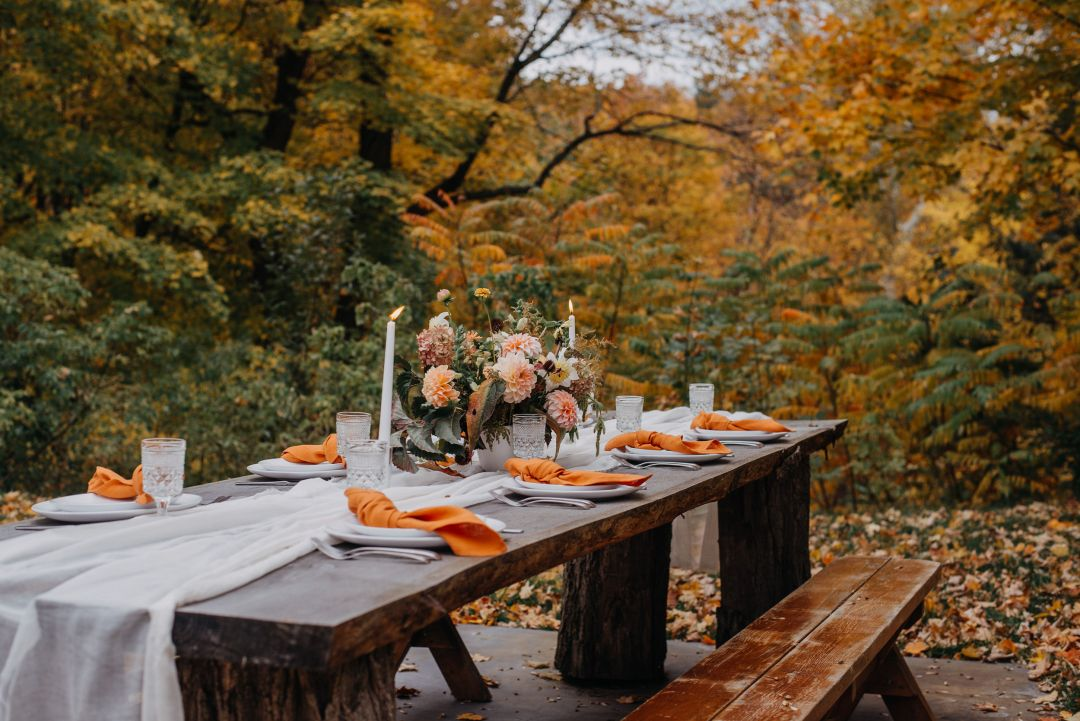 October tablescape vermont