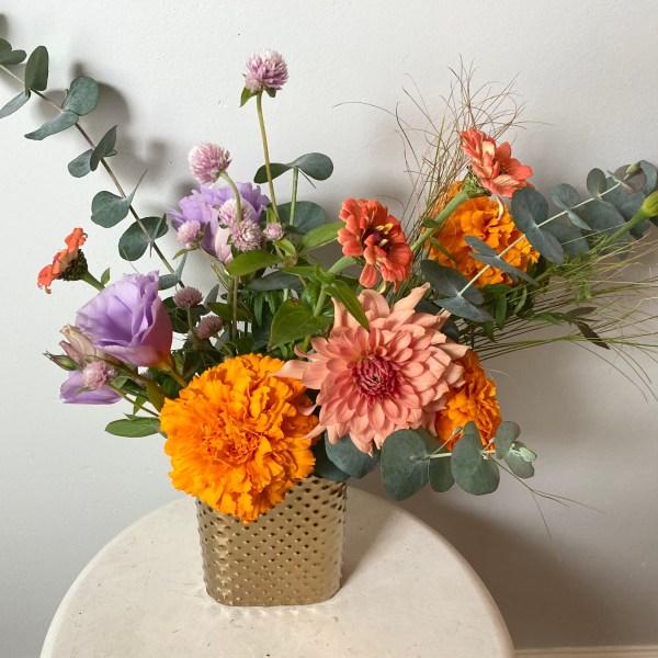 Gold Pocket Vase Arrangement