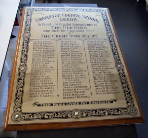 Castleton: War memorial AFTER cleaning