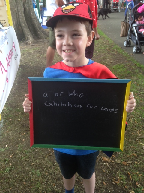 A youngster from Farnley gave his view of what Leeds needs at last year's Kirkstall Festival. Photo: West Leeds Life/Dispatch