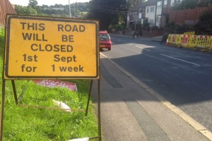 Henconner Lane roadworks