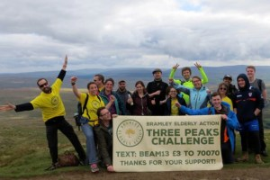Bramley Elderly Action three peaks fundraiser