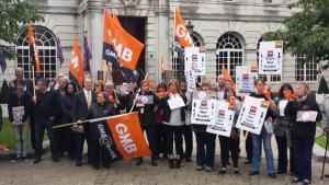 GMB home closure protest