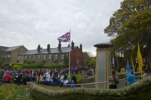 Bramley War memprial remembrance Sunday