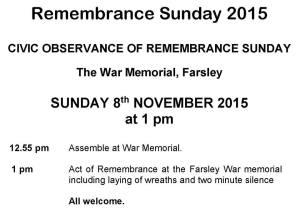 farsley remembrance