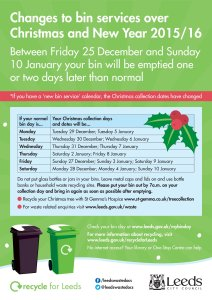 Leeds Christmas bin collections 2015