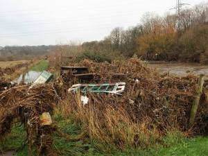 rodley nature reserve floods clean up