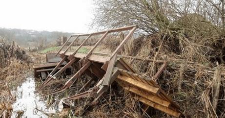 Rodley Nature Reserve flood damage