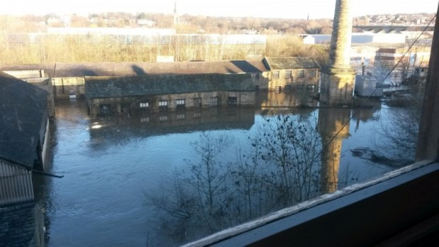 Armley Mills flood