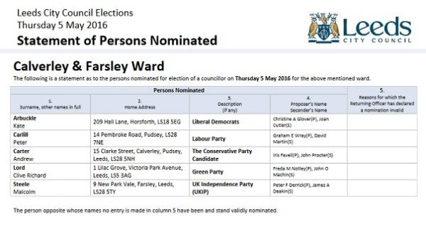 calverley and farsley ward