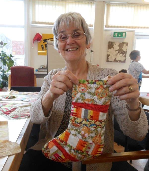 Christmas stockings galore at Bramley Lawn. Photo: Debby Dean