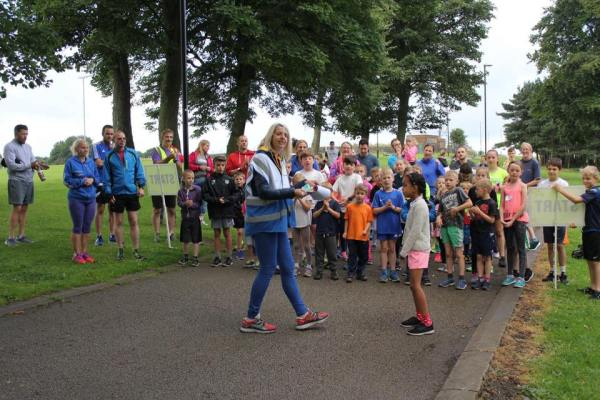Bramley junior Parkrun start