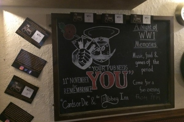 abbey inn remembrance day