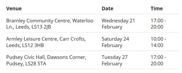 Armley gyratory consultation dates