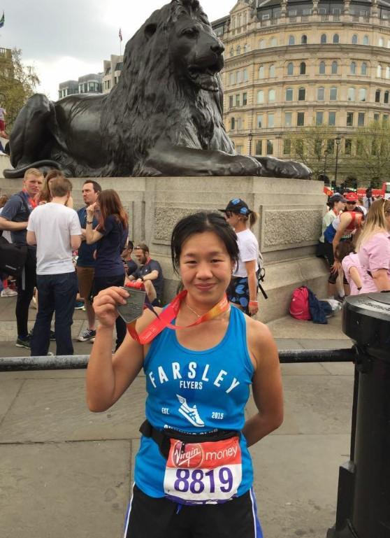 Farsley flyers london marathon 2018jpg