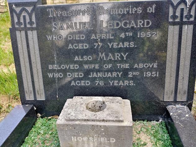 Samuel Ledgard grave Armley Hill Top cemetery