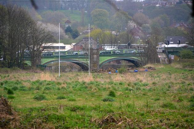 Kirkstall Abbey and bridge