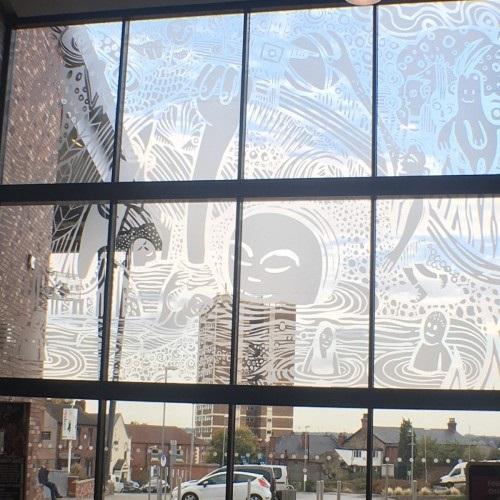 armley leisure centre highlines artwork