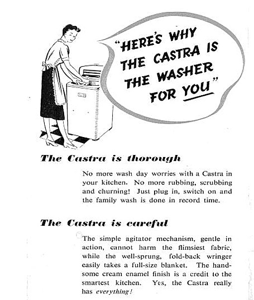 castra washing machine