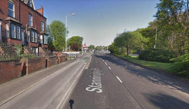 Stanningley road crash