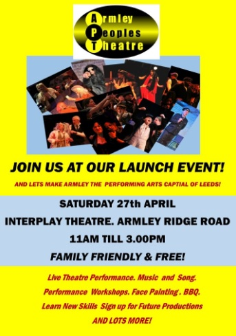 armley people's theatre launch event
