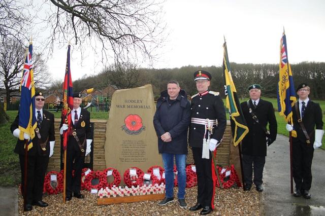rodley war memorial unveiling