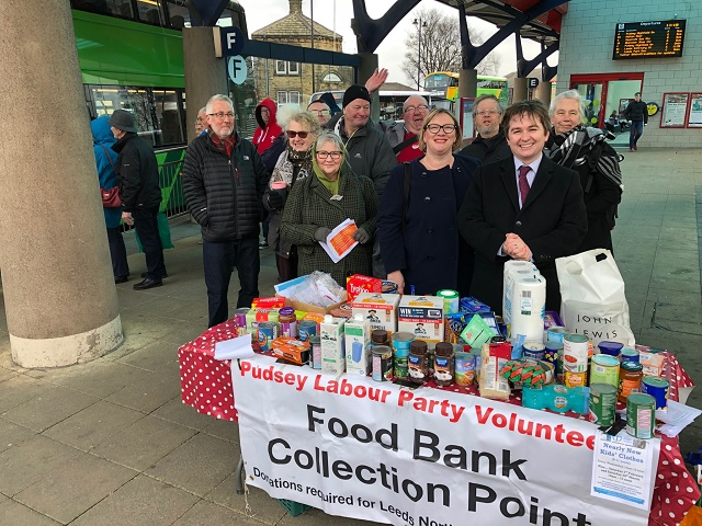 pudsey food bank collection