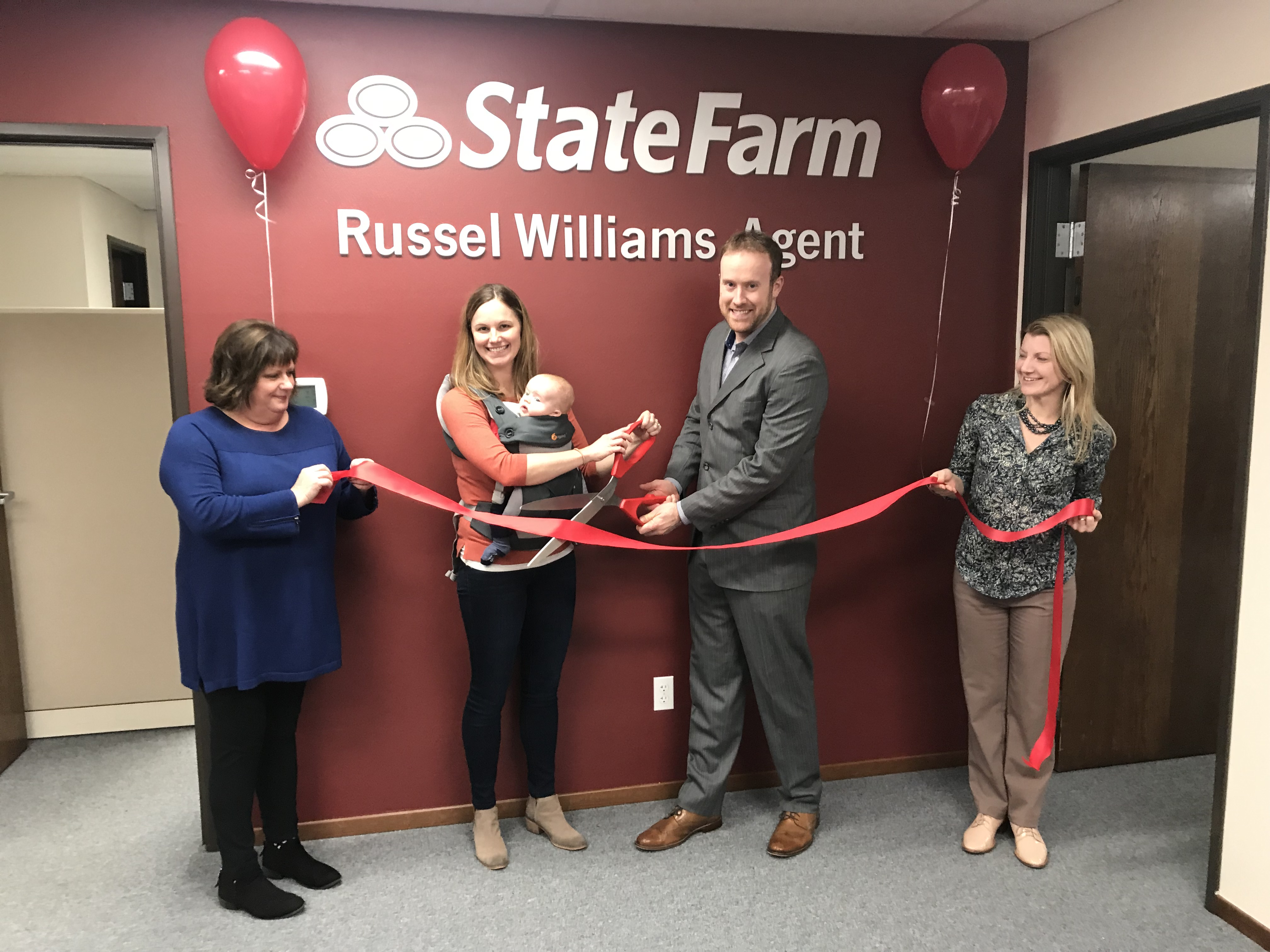 Ribbon Cutting Ceremony for State Farm Agent Russel Williams