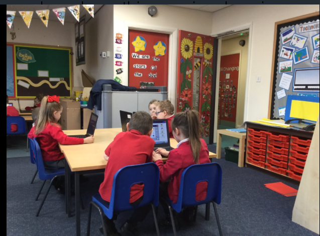 We are busy bees this morning, learning some more ICT skills