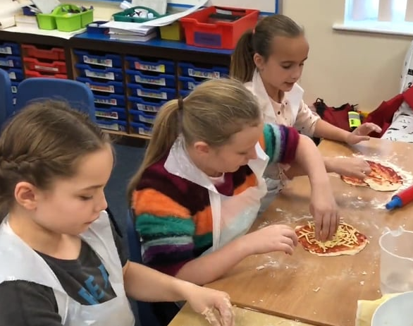 Pizza making with Tesco