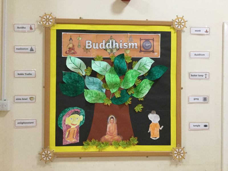 This afternoon in R.E we have been learning about Buddhist monks…