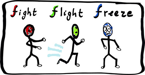 Image result for fight flight of freeze""