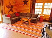 Pentwater MI Vacation Rental Cabin Living Room